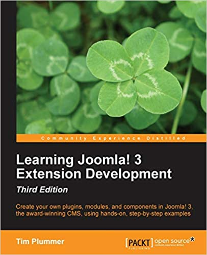 book cover  learning joomla 3 extension development