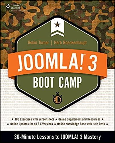 book cover joomla 3 bootcamp 30 minute lessons