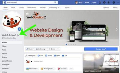 Verify Your Facebook Page - WebSolutionZ com au